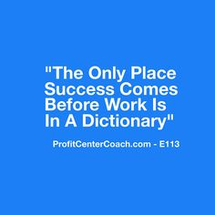 "E113  SUCCESS  12 x 12 Canvas Wall Hanging - - love this quote: ""The only place success comes before work is in a dictionary."""