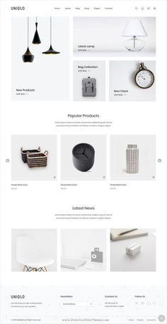 Minimal Web Design, Site Web Design, Ecommerce Website Design, Website Design Layout, Design Blog, Web Layout, Ui Ux Design, Layout Design, Clean Design