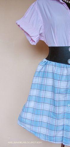 Anielska Aniela-DIY,Tutorial,Sewing, Szycie,przeróbki,uroda,zdrowie -Blog o przeróbkach i szyciu: diy dress from men's shirt / diy sukienka z męskic...
