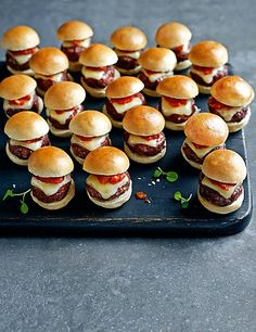 20 Mini Ultimate Cheese Burgers Food
