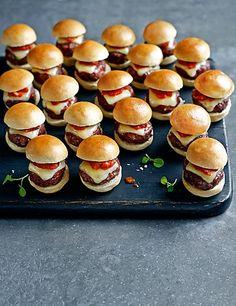 20 Mini Ultimate Cheese Burgers Food