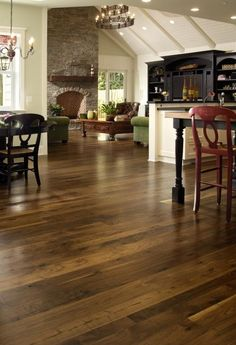 Love the floor colour (Walnut with dark, medium finish)