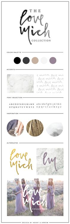 Love Mich Collection brand board  //  by Heart & Arrow Design