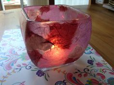 ✅Mod podged glass jar with tissue paper stuck on. I used the dishwasher safe version but reckon any of them would work with a few coats, looks lovely with a tea light inside (make sure it is big enough, doesn't get too hot etc) or use a battery operated one if in doubt! #modpodge #craft #make