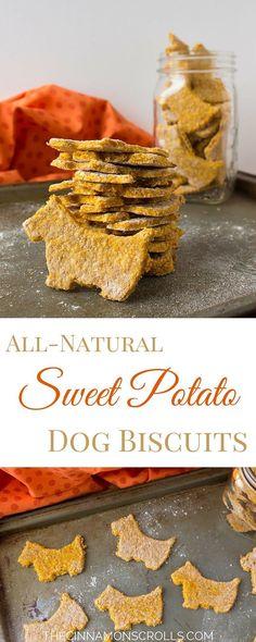 Natural Sweet Potato Dog Biscuits | thecinnamonscrolls.com @cinnamonscribe