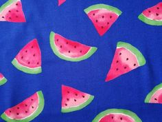 Items similar to Watermelon on Navy Blue Fabric made in Japan on Etsy Watermelon, My Etsy Shop, Navy Blue, Unique Jewelry, Handmade Gifts, My Style, Check, Fabric, Vintage