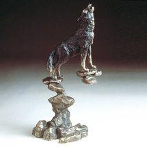 Wolf Bronze Sculpture   Mark Hopkins