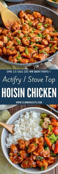 Slimming Heavenly Tender Hoisin Chicken - a quick simple dish that is ready in less than 20 minutes and can be cooked in an Actifry or on the Stove Top. Gluten Free, Dairy Free, Slimming WOrld and Weight Watchers friendly - Slimming World Dinners, Slimming World Recipes Syn Free, Slimming World Diet, Slimming Eats, Slimming World Chicken Recipes, Actifry Recipes Slimming World, Slimming World Lunch Ideas, Slimming World Breakfast Ideas Quick, Slimming World Bbq Sauce