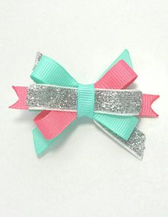 Hey, I found this really awesome Etsy listing at https://www.etsy.com/listing/399320711/beach-bow-sparkle-hair-clip-salmon-pink