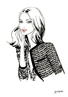 Chic fashion illustration // Jason Brooks