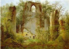 Caspar David Friedrich~The ruin of Eldena
