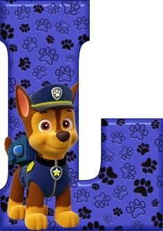 *✿**✿*L*✿**✿*DE ALFABETO DECORATIVO Paw Patrol Birthday Cake, Paw Patrol Cake, Paw Patrol Party, Leo Birthday, Baby Boy Birthday, Escudo Paw Patrol, Alfabeto Animal, Cumple Paw Patrol, Disney Figurines