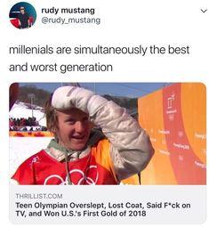 He isn't a millennial if he is a teen he is gen z