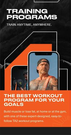 Build muscle or lose fat, at home or at the gym, with one of these expert-designed, easy-to-follow TA2 workout programs. 5-day training split, utilizing supersets and working different muscle groups each workout. Training Programs, Workout Programs, Best Resistance Bands, Lose Body Fat, Muscle Groups, Build Muscle, Fun Workouts, Good Things, Goals