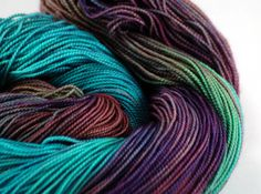 Hand Dyed 2ply Merino Sock Yarn  Nebula by ColdSpringsShop on Etsy