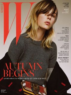 Edie Campbell on W Korea August 2016 Cover