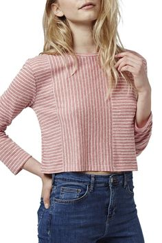 Stripe Panel Crop Top