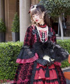 "angelicprettynews: ""Angelic Pretty - Belleleine Dress Out Now "" Harajuku Fashion, Kawaii Fashion, Lolita Fashion, Cute Fashion, Fashion Outfits, Angelic Pretty, Dress Out, Fantasy Dress, Japanese Street Fashion"