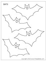 Free Printable Bats To Color And Use For Crafts Other Activities