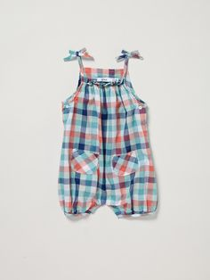Plaid Romper by Knot at Gilt