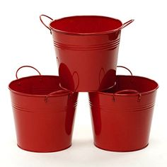 6.5 inch Red Metal Pot