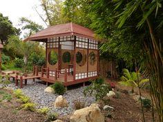 Tea House in the Bamboo Garden, San Diego Botanic Garden Potted Garden, Bamboo Garden, Garden Pots, San Diego Botanic Garden, Botanical Gardens, Paths, Gazebo, Outdoor Structures, Tea