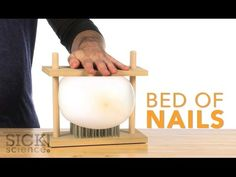 Bed of Nails - Sick Science! - YouTube / #Magicflix #Science #Movie #Video #Education #Kids #Toddlers