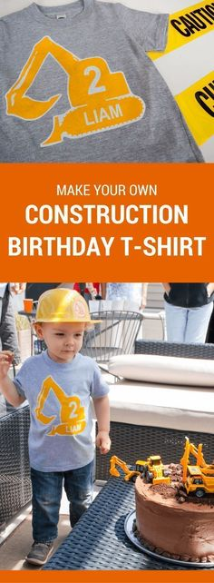 """""""Four""""man birthday party. Make a DIY personalized construction birthday t-shirt for a modern construction birthday party. Just type to personalize, print, iron-on, and wear! Digger Birthday Parties, Birthday Party Games, Birthday Diy, Digger Party, Birthday Ideas, Birthday Banners, Farm Birthday, Birthday Invitations, Happy Birthday Printable"""