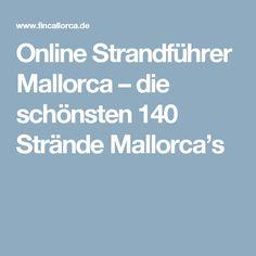Online Strandführer Mallorca – die schönsten 140 Strände Mallorca's