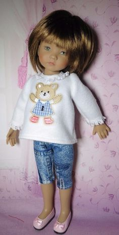 PIXIES HAND MADE:TEDDY TOP/CROPS fits 13 ins dolls like LITTLE DARLING/MINOUCHE