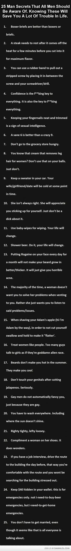 25 Man Facts You Should Know