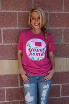 Oklahoma sweet home floral unisex crew neck t-shirt-more colors
