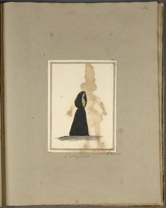 "Cloaked woman, ""A Portuguese,"" by H. Finch From New York Public Library Digital Collections."
