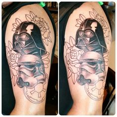 Star Wars tattoo in progress