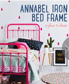 Annabell bed frame by #AdairsKids in Neon Oink. Miss 3 has already picked this out for her future room!