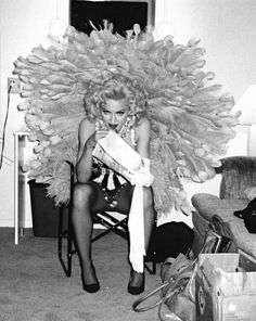 """vmagazine: """"'Life in Pictures' by YSL muse ©Marina Schiano Ca. Madonna """" It was during a television, ad shooting in Los Angeles. I was doing the styling and took this picture during a. Madonna 90s, Madonna Fashion, Madonna Hair, Madonna Pictures, Look Magazine, Iconic Women, Poses, Showgirls, Material Girls"""