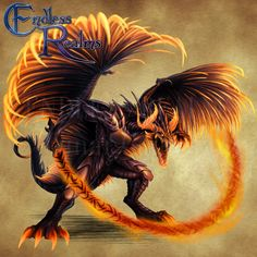 Endless Realms bestiary - Balaur by jocarra on DeviantArt demons, but originate from Romanian folklore as similar to a classic Western dragon and a representation of Evil
