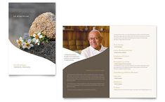 Memorial & Funeral Program Newsletter Template Design | StockLayouts