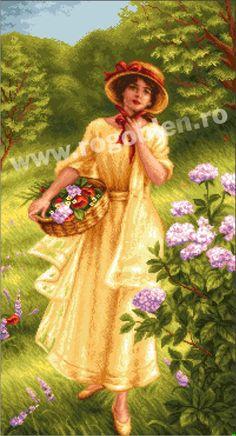 Poveste de vara - Rogoblen Disney Queens, Embroidery, Summer, Painting, Frames, Needlework, Needlepoint, Summer Time, Painting Art