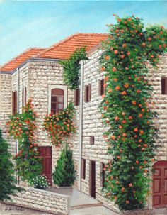 A part view of Deir el Qamar houses / Lebanon Indoor Garden, Outdoor Gardens, Lebanon Tourism, Village Drawing, Old House Design, Beautiful Homes, Beautiful Places, House Viewing, Castle House