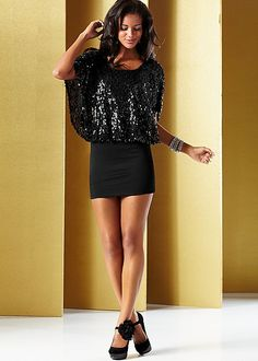 Sequin top dress, floral detail heel in the VENUS Line of Dresses for Women