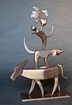 """Jean-Pierre Augier sculpture  -  """"The Bremen Town Musicians"""""""
