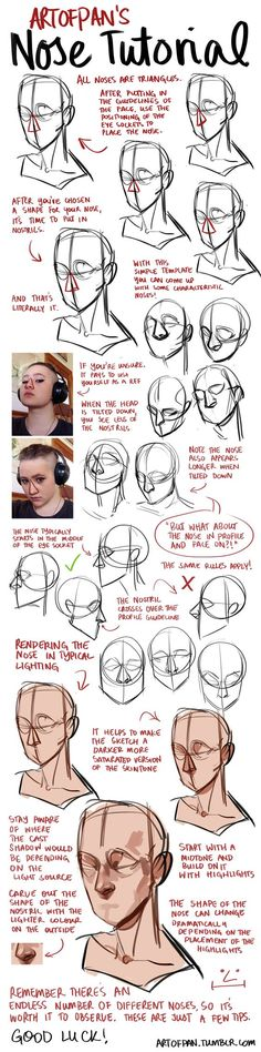 Nose Tutorial by artofpan.deviantart.com on @DeviantArt