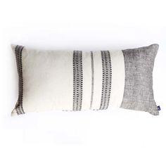 Gray Organic Cotton Oblong Lumbar Pillow Cover – Made Trade Black And White Pillows, Grey Pillows, Throw Pillow Covers, Throw Pillows, Cricut, Leather Pillow, Textiles, Cotton Pillow, Cotton Fabric