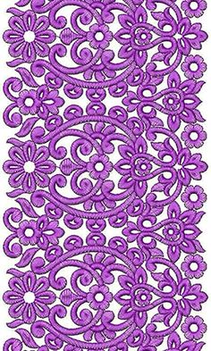 Pakistani Fabric Lace Embroidery Design