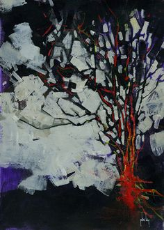 Paul Bailey Fire tree 7.5 x 10.5 inches 2013