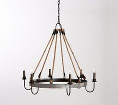 "Napa Wine Barrel Chandelier | Pottery Barn - 33""dia x 28""h - $499 (less 20% is $399.20)"