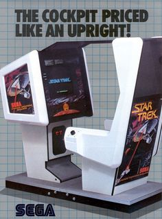 Star Trek, Arcade, Sega, 1982 - Based on the television program.