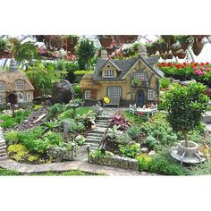 Village House Miniatures #garden, miniatures
