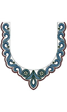 Check Out Latest Embroidery Neck Design 13997                                                                                                                                                     More
